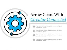 Arrow Gears With Circular Connected