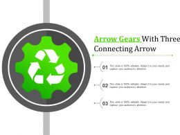 Arrow Gears With Three Connecting Arrow