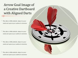 Arrow Goal Image Of A Creative Dartboard With Aligned Darts