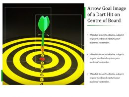 Arrow Goal Image Of A Dart Hit On Centre Of Board