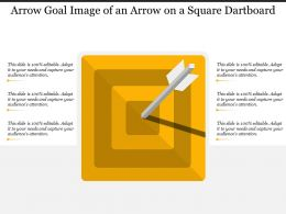 Arrow Goal Image Of An Arrow On A Square Dartboard