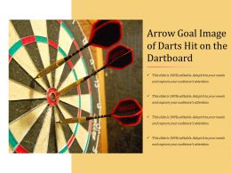 Arrow Goal Image Of Darts Hit On The Dartboard