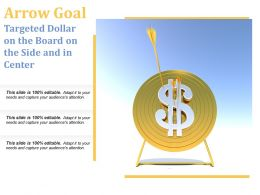 Arrow Goal Targeted Dollar On The Board On The Side And In Center
