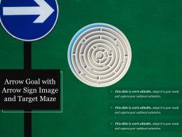 Arrow Goal With Arrow Sign Image And Target Maze