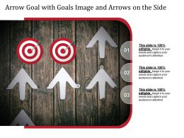 Arrow Goal With Goals Image And Arrows On The Side