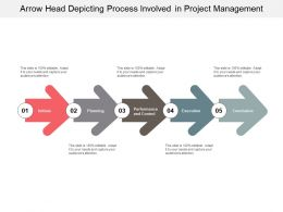 Arrow Head Depicting Process Involved In Project Management