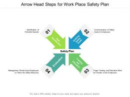 Arrow Head Steps For Work Place Safety Plan