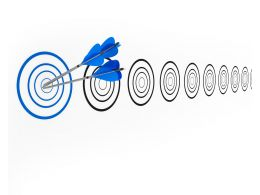 Arrow Hits The Target Showing Concept Of Stay Ahead Stock Photo