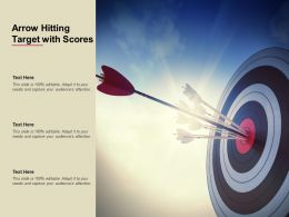 Arrow Hitting Target With Scores