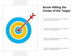 Arrow Hitting The Centre Of The Target
