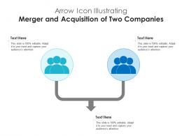 Arrow Icon Illustrating Merger And Acquisition Of Two Companies