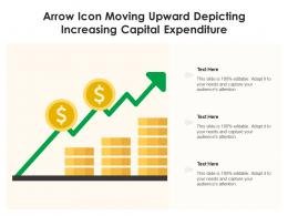 Arrow Icon Moving Upward Depicting Increasing Capital Expenditure