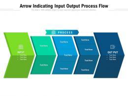 Arrow Indicating Input Output Process Flow