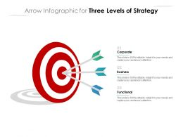Arrow Infographic For Three Levels Of Strategy