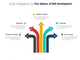Arrow Infographics For Five Options Of Skill Development
