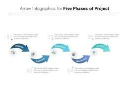 Arrow Infographics For Five Phases Of Project
