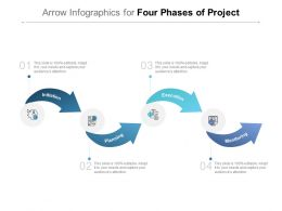 Arrow Infographics For Four Phases Of Project