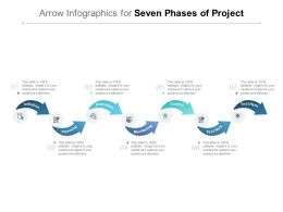 Arrow Infographics For Seven Phases Of Project