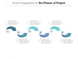 Arrow Infographics For Six Phases Of Project