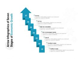 Arrow Infographics Of Seven Stages Of Economic Growth