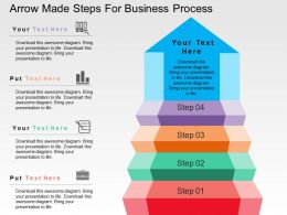 Arrow Made Steps For Business Process Flat Powerpoint Design