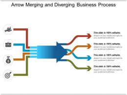 Arrow Merging And Diverging Business Process Ppt Presentation