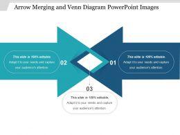 Arrow Merging And Venn Diagram Powerpoint Images