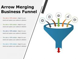 Arrow Merging Business Funnel Powerpoint Layout