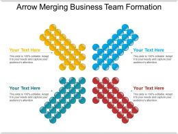 Arrow Merging Business Team Formation Ppt Sample File