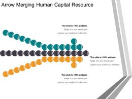 Arrow Merging Human Capital Resource Powerpoint Slides