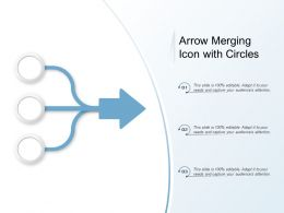 Arrow Merging Icon With Circles