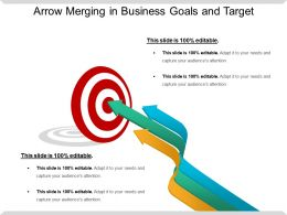 Arrow Merging In Business Goals And Target Ppt Slide Design