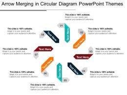 Arrow Merging In Circular Diagram Powerpoint Themes