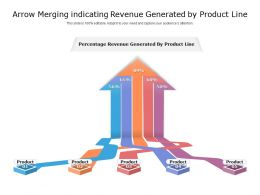 Arrow Merging Indicating Revenue Generated By Product Line