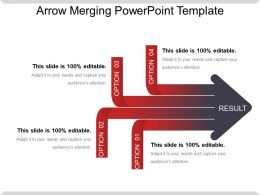 Arrow Merging Powerpoint Template