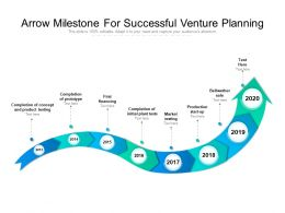 Arrow Milestone For Successful Venture Planning