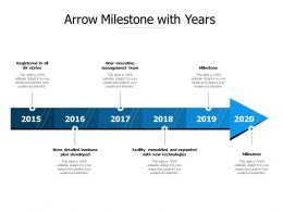 Arrow Milestone With Years