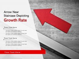 Arrow Near Staircase Depicting Growth Rate