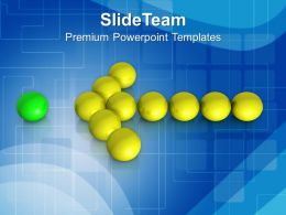 Arrow Of Ball Leadership Concept PowerPoint Templates PPT Themes And Graphics 0213