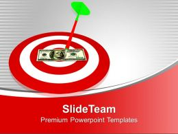 Arrow On Dart Dollar Bill Target PowerPoint Templates PPT Themes And Graphics 0113