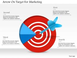 Arrow On Target For Marketing Powerpoint Templates