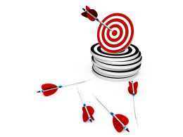 Arrow On Target Success Concept Stock Photo