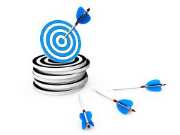 Arrow On Target Success Illustration Stock Photo