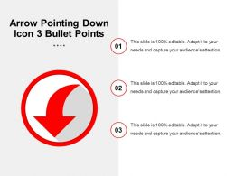 Arrow Pointing Down Icon 3 Bullet Points
