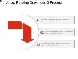 Arrow Pointing Down Icon 3 Process