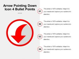 Arrow Pointing Down Icon 4 Bullet Points