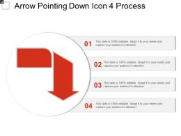 Arrow Pointing Down Icon 4 Process