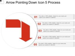 Arrow Pointing Down Icon 5 Process