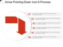 Arrow Pointing Down Icon 6 Process