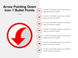 Arrow Pointing Down Icon 7 Bullet Points